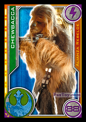 PaxToy.com - 043 Chewbacca из Topps: Star Wars El Camino De Los Jedi from Carrefour
