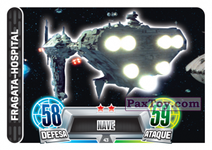 PaxToy.com - 043 Fragata-Hospital из Topps: Star Wars Force Attax Heroes y Villanos from Continente