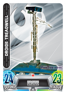 PaxToy.com - 043 Treadwell Droid из Topps: Star Wars Heroes y Villanos (Force Attax) from Carrefour