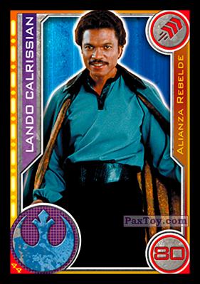 PaxToy.com - 044 Lando Calrissian из Topps: Star Wars El Camino De Los Jedi from Carrefour