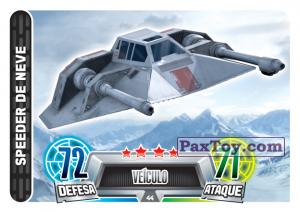 PaxToy.com - 044 Speeder de Neve из Topps: Star Wars Force Attax Heroes y Villanos from Continente