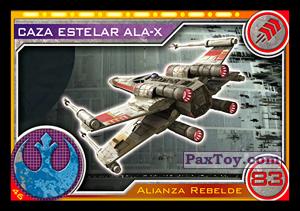 PaxToy.com - 046 Caza Estelar Ala-X из Carrefour: Star Wars El Camino De Los Jedi (Cards)