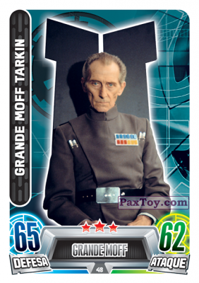 PaxToy.com - 048 Grande Moff Tarkin из Topps: Star Wars Force Attax Heroes y Villanos from Continente
