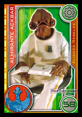 PaxToy.com - 049 Almirante Ackbar из Carrefour: Star Wars El Camino De Los Jedi (Cards)