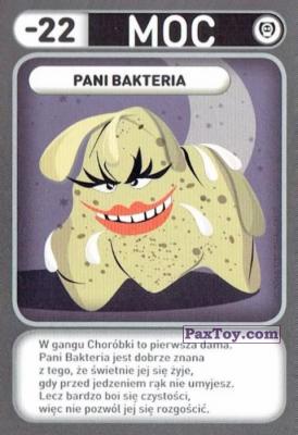 PaxToy.com - 049 Pani Bakteria (Choroby) из Biedronka: Gang Swieżaków 1 - Karty i Naklejki