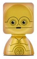 PaxToy.com - 05 C-3PO из Continente: Star Wars Force Attax Bustz