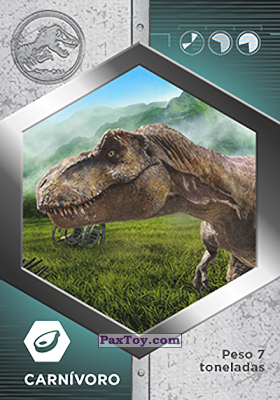 PaxToy.com - 05 Tiranosaurio Rex из Supermercados DIA: Jurassic World - Cards