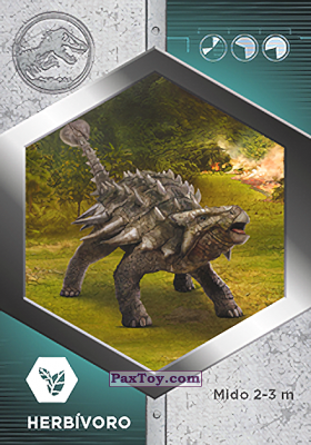 PaxToy.com - 07 Anquilosauro из Supermercados DIA: Jurassic World - Cards