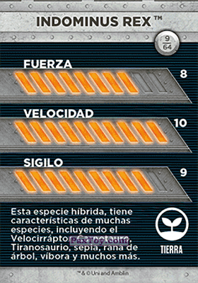 PaxToy.com - 09 Indominus Res (Сторна-back) из Supermercados DIA: Jurassic World - Cards