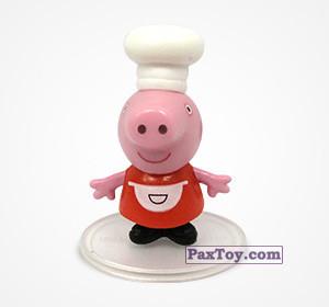 PaxToy.com  Фигурка 09 Свинка Пеппа повар из Choco Balls: Свинка Пеппа. Профессии.