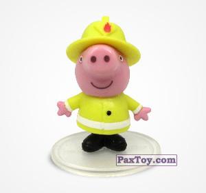 PaxToy.com - 10 Джордж пожарник из Choco Balls: Свинка Пеппа. Профессии.