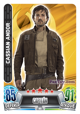 PaxToy.com - 101 Cassian Andor из Topps: Star Wars Heroes y Villanos (Force Attax) from Carrefour
