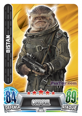 PaxToy.com - 103 Bistan из Topps: Star Wars Heroes y Villanos (Force Attax) from Carrefour