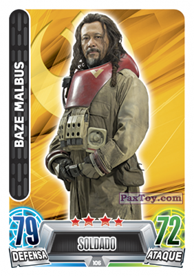 PaxToy.com - 106 Baze Malbus из Topps: Star Wars Heroes y Villanos (Force Attax) from Carrefour