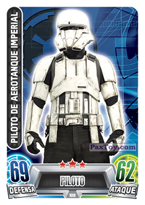 PaxToy.com - 108 Piloto De Aerotanque Imperial из Topps: Star Wars Heroes y Villanos (Force Attax) from Carrefour