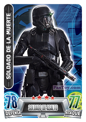 PaxToy.com - 109 Soldado De La Muerte из Topps: Star Wars Heroes y Villanos (Force Attax) from Carrefour