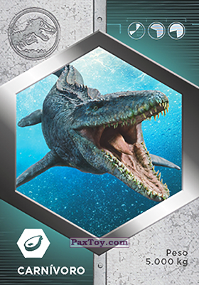 PaxToy.com - 11 Mosasaurio из Supermercados DIA: Jurassic World - Cards