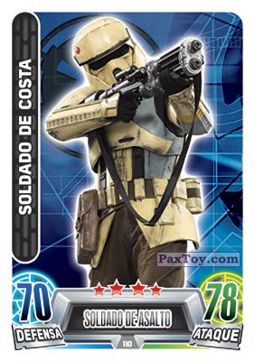 PaxToy.com - 110 Soldado De Costa из Topps: Star Wars Heroes y Villanos (Force Attax) from Carrefour