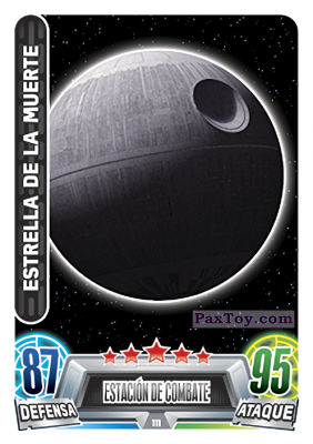PaxToy.com - 111 Estrella De LA Muerte из Topps: Star Wars Heroes y Villanos (Force Attax) from Carrefour
