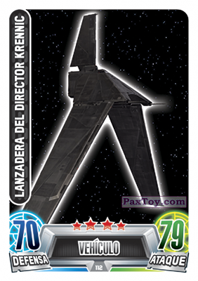 PaxToy.com - 112 Lanzadera Del Director из Topps: Star Wars Heroes y Villanos (Force Attax) from Carrefour