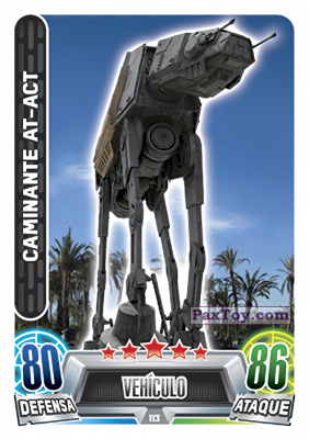 PaxToy.com - 113 Caminante AT-ACT из Topps: Star Wars Heroes y Villanos (Force Attax) from Carrefour