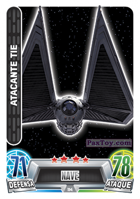 PaxToy.com - 114 Atacante Tie из Topps: Star Wars Heroes y Villanos (Force Attax) from Carrefour