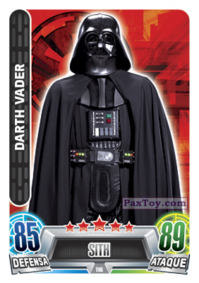 PaxToy.com - 116 Darth Vader из Topps: Star Wars Heroes y Villanos (Force Attax) from Carrefour