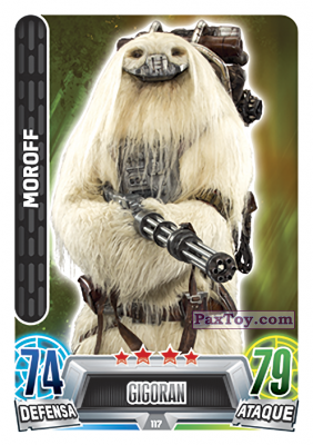 PaxToy.com - 117 Moroff из Topps: Star Wars Heroes y Villanos (Force Attax) from Carrefour