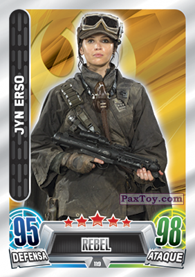 PaxToy.com - 119 Jyn Erso из Topps: Star Wars Heroes y Villanos (Force Attax) from Carrefour