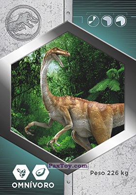 PaxToy.com - 12 Gallimimus из Supermercados DIA: Jurassic World - Cards
