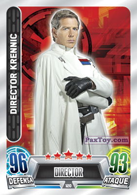 PaxToy.com - 120 Director Krennic из Topps: Star Wars Heroes y Villanos (Force Attax) from Carrefour