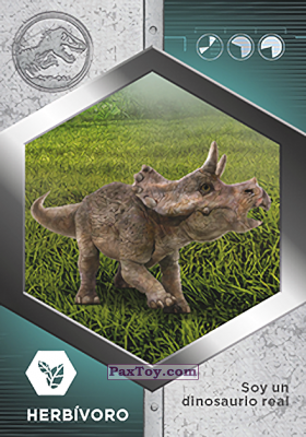 PaxToy.com - 13 Triceratops Bebe из Supermercados DIA: Jurassic World - Cards