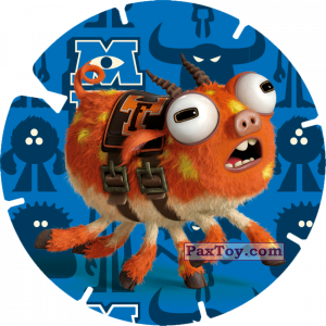 PaxToy.com  Фишка / POG / CAP / Tazo 14 - ARCHIE (MONSTERS UNIVERSITY) из Billa: Super Flizz 1
