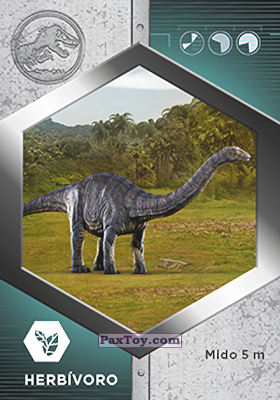 PaxToy.com - 14 Apatosaurio из Supermercados DIA: Jurassic World - Cards