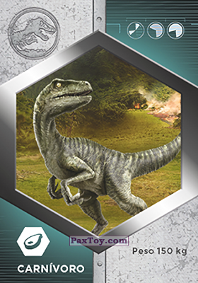 PaxToy.com - 15 Raptor - Charlie из Supermercados DIA: Jurassic World - Cards