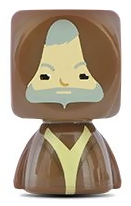 PaxToy.com  Blokhedz 18 Obi-Wan Kenobi из Continente: Star Wars Force Attax Bustz