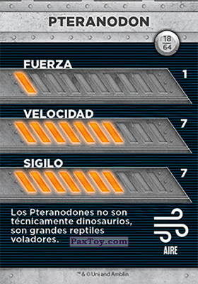 PaxToy.com - 18 Pteranodon (Сторна-back) из Supermercados DIA: Jurassic World - Cards