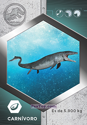 PaxToy.com - 19 Mosasaurio из Supermercados DIA: Jurassic World - Cards