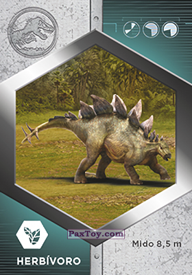 PaxToy.com - 22 Estegosaurio из Supermercados DIA: Jurassic World - Cards
