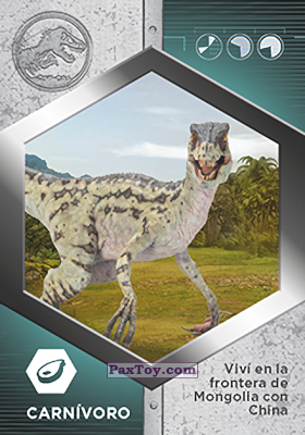 PaxToy.com - 24 Velocirraptor Hembra из Supermercados DIA: Jurassic World - Cards