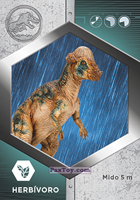 PaxToy.com - 25 Paquicefalosaurio из Supermercados DIA: Jurassic World - Cards