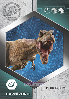 PaxToy.com - 27 Tiranosaurio Rex из Supermercados DIA: Jurassic World - Cards