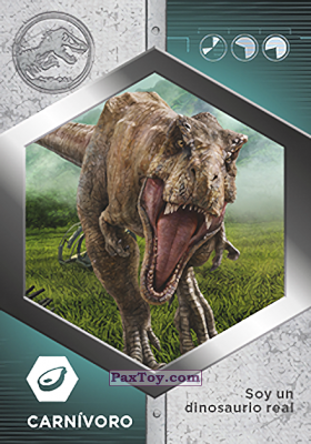PaxToy.com - 29 Tiranosaurio Rex из Supermercados DIA: Jurassic World - Cards