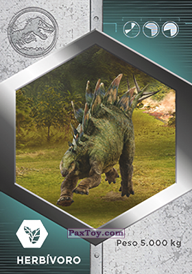 PaxToy.com - 30 Estegosaurio из Supermercados DIA: Jurassic World - Cards