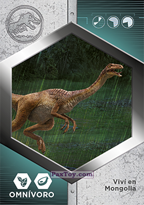 PaxToy.com - 33 Gallimimus из Supermercados DIA: Jurassic World - Cards
