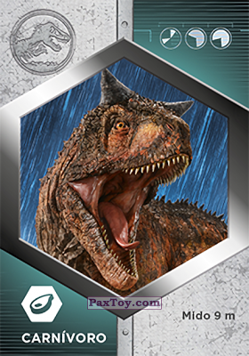 PaxToy.com - 35 Carnotauro из Supermercados DIA: Jurassic World - Cards