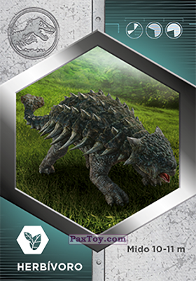 PaxToy.com - 37 Anquilosauro из Supermercados DIA: Jurassic World - Cards