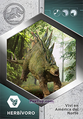 PaxToy.com - 40 Estegosaurio из Supermercados DIA: Jurassic World - Cards