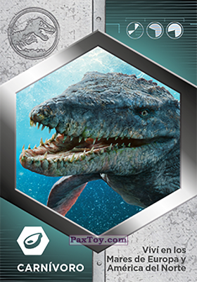 PaxToy.com - 43 Mosasaurio из Supermercados DIA: Jurassic World - Cards