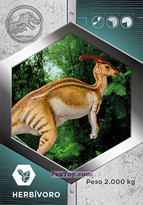 PaxToy.com - 44 Parasauro из Supermercados DIA: Jurassic World - Cards